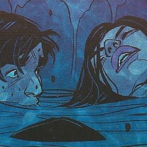 乔特和莫妮玛落水