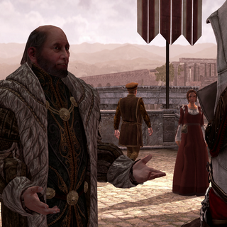Egidio vraagt om Ezio's hulp.