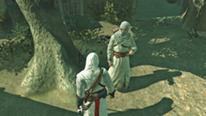 Altair rozmawia z informatorem - Assassin's Creed