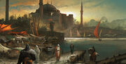 World - Turkey - Constantinople - The port - Concept Art 02