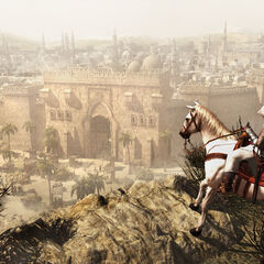 Altaïr arrivant à <b>Damas</b>