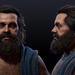 蘇格拉底的頭部模型