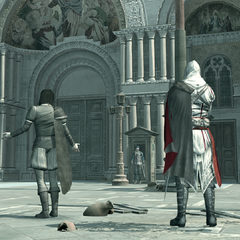 安東尼奧和埃齊奧在總督府前