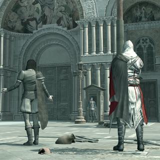 埃齐奥和安东尼奥在总督府前