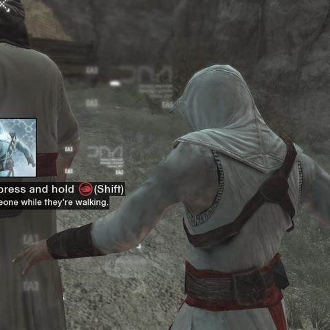 Altaïr pakt de brief.