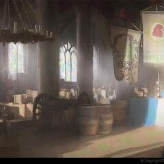巴黎圣母院内部一座圣坛的概念设定图