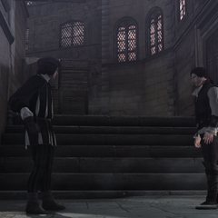 埃齐奥在韦斯普奇寓所处对峙维耶里