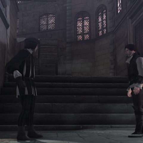 埃齐奥与维耶里打斗