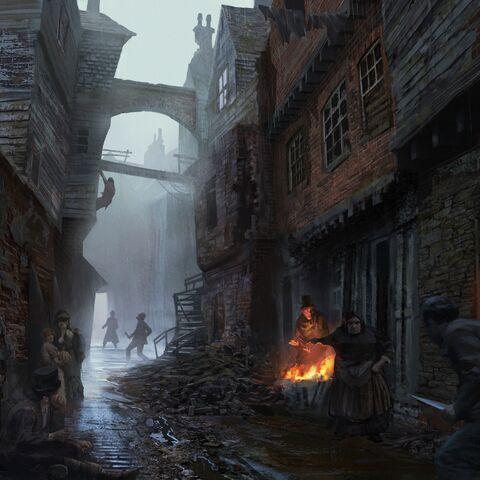 白教堂贫民窟原画