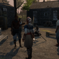Aveline de Grandpré speaking with slaves in New Orleans