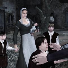 Caterina retrouvant ses enfants
