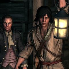 Samuel Adams et Connor dans les tunnels sous Boston