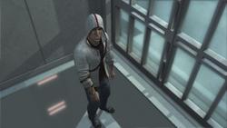 Desmond bloccato ascensore Abstergo