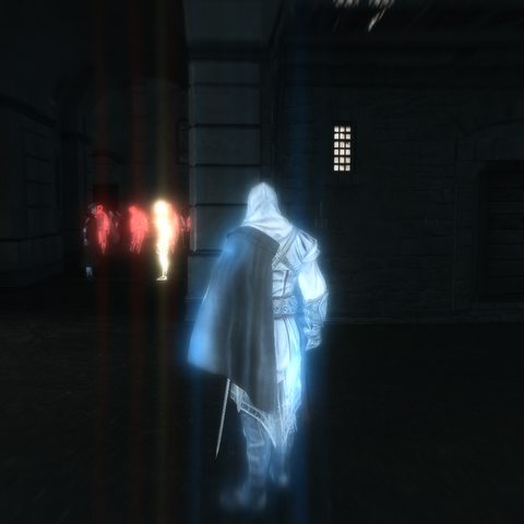 Ezio localisant sa cible.