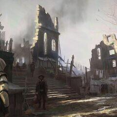 Concept-art de <b>New York</b> après le grand incendie