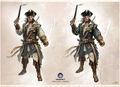 Connor in Captain Kidd's Robes - Concept Art.jpg