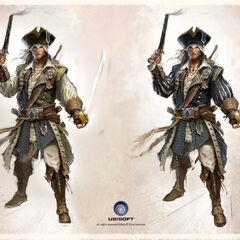 基德船长服装的艺术设定