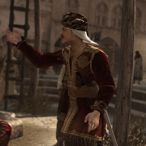 تمير يتجادل مع التاجر.
