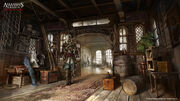 AC4 Great Inagua Manor Interior - Concept Art 1