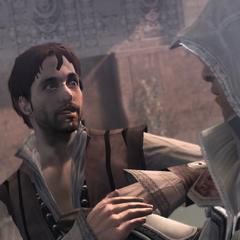 Manfredo verzekert Ezio dat hij van Cristina houdt
