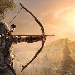 Connor mit seinem Bogen im Grenzland