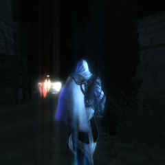 Ezio localisant Giuletta et son bienfaiteur
