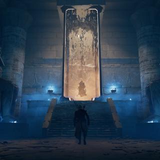 La salle du tombeau
