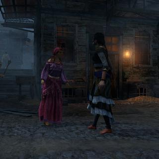 A Romani confronting Mirela