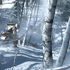 Connor caçando um alçe.