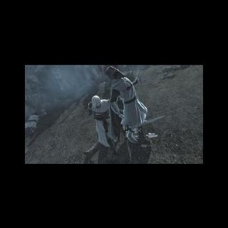 Altaïr matando Robert de Sablé.