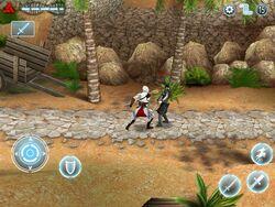Altaïr Lutando com um Templário
