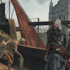 Ezio vê Sofia pela primeira vez