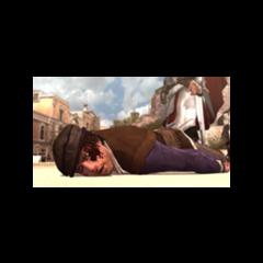Duccio nocauteado após a luta