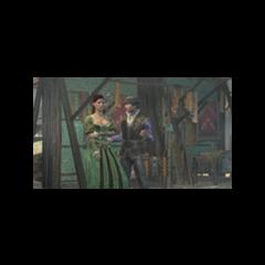 Duccio tentando flertar com Sofia Sartor