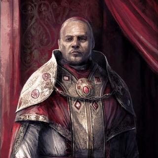 O retrato de Rodrigo que você encontra na sede da Ilha Tiberina
