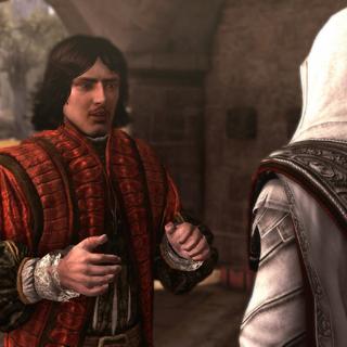 Copérnico dizendo a Ezio sobre o Mestre do Palácio Sagrado