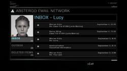 AC1 E-mail de Lucy na Abstergo