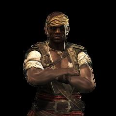 Render de Adéwalé na versão pirata dele.