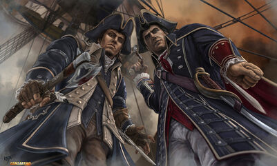 Connor-and-Haytham-Assassin-and-Templar-by kejablank