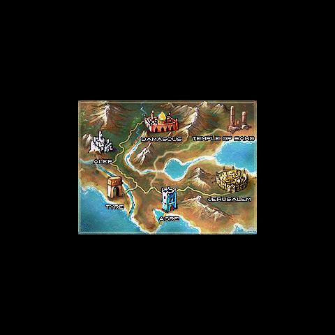O mapa do mundo da versão de DS