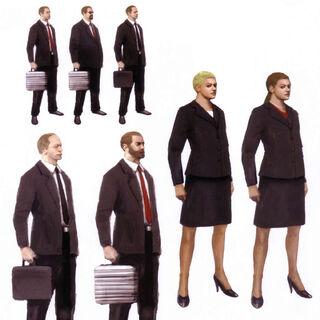 Arte de conceito de funcionários da Abstergo