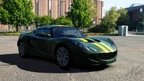 Lotus Elise SC (Racing Green with Stripes)