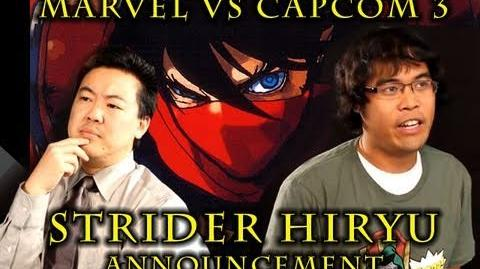 Marvel VS Capcom 3 Strider Hiryu PSA from James Chen, Clockw0rk & Dr