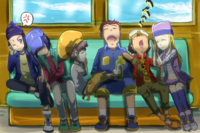 Koji is mad at the 5 Sleeping DigiDestined