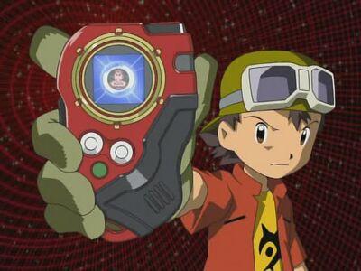 Takuya with his Digivice