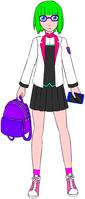 Erika in her Seidoukan Uniform