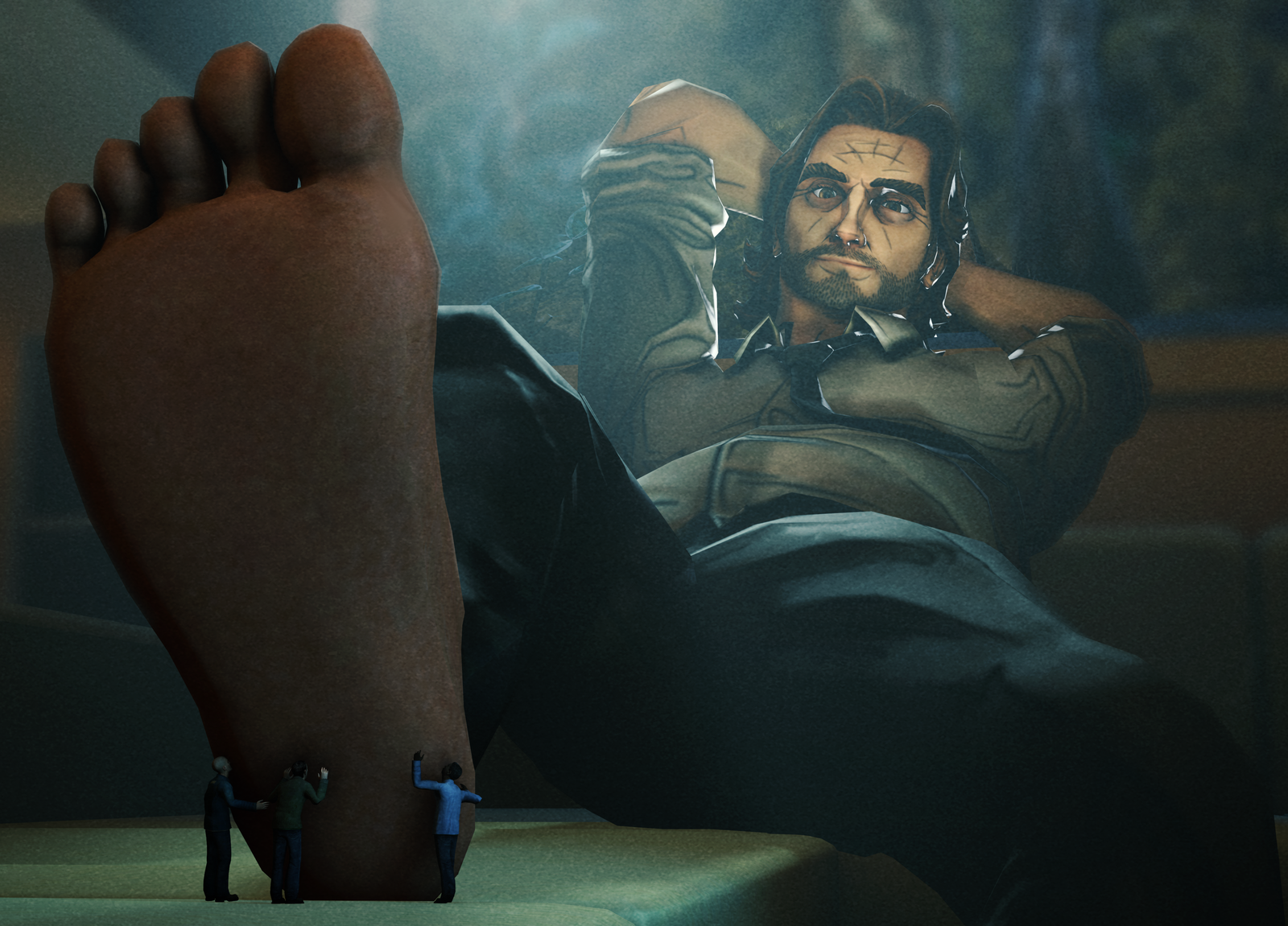 Giant Bigby Foot Worship By Gt And Videogames Dc1ryd5 Png