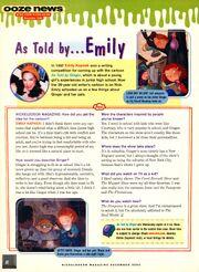 Emily Kapnek interview As Told by Ginger NickMag Dec 2000