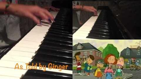 As Told by Ginger Opening Theme Song Piano Cover - Nickelodeon