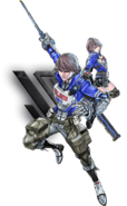 Astral Chain Protagonist and Akira Howard Official Art